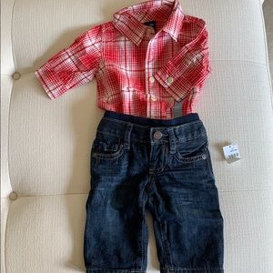Perfect Fall outfit for baby boy!